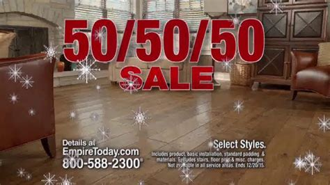 empire today 50 50 50 sale tv spot floors before