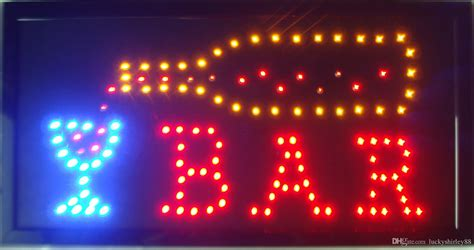 outdoor lighted bar signs 2016 led bar open shop sign sale customed low power