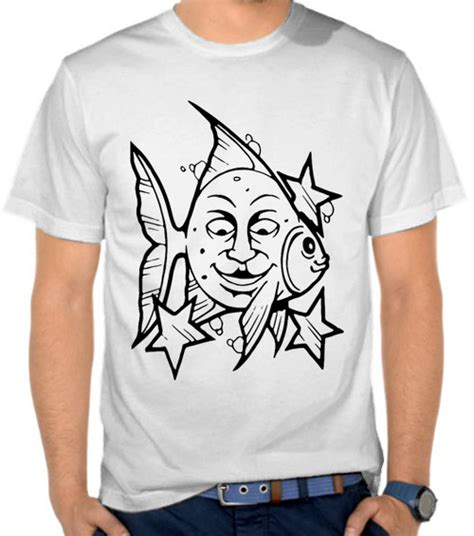 jual kaos fish and moon ikan satubaju