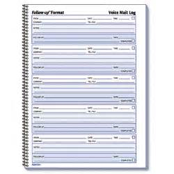 best photos of voicemail log book template voice message