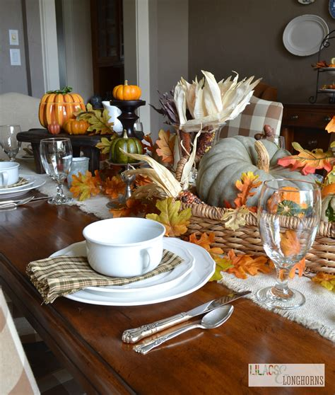 creating a pottery barn inspired fall tablescape lilacs