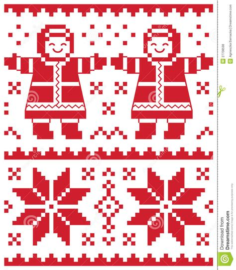 pattern christmas card christmas card knitted pattern stock illustration