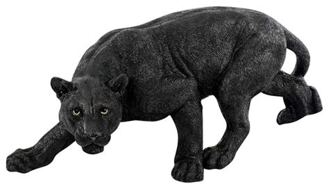 Houzz Dining Room Lighting by Small Shadowed Predator Black Panther Statue Traditional