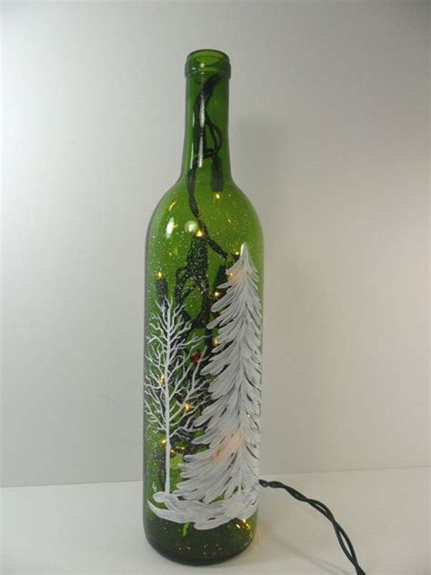 wine bottle christmas lights 518 best holiday glass painting ideas images on pinterest