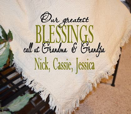 Wedding Blessing From Grandparents by Grandparents Greatest Blessings Afghan Personalized