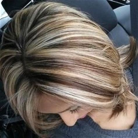 3 color blonde and brown hair foil hair styles highlights lowlights by ashley m frecks hairstyles