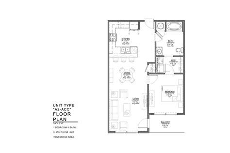 acc floor plan north building 1 bedroom floor plans