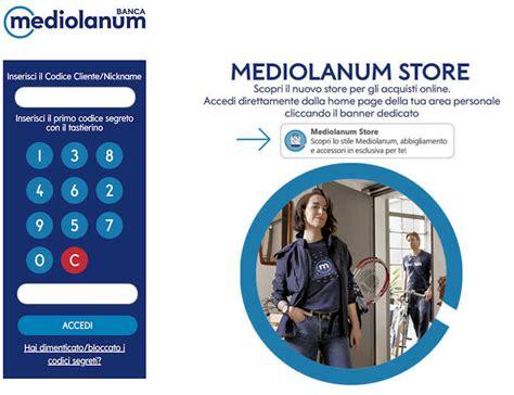 sistema accesso clienti bmedonline di mediolanum servizi home banking e accesso