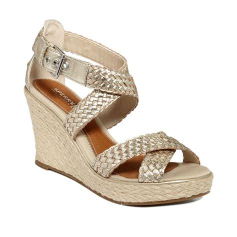 sperry wedge sandal sperry top sider womens harbordale platform wedge sandals