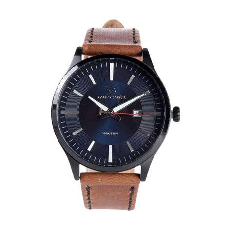 Jam Tangan Pria Rip Curl Date Analog Leather Mds 1302 jual rip curl midnight leather jam tangan pria navy a3014 49 harga kualitas