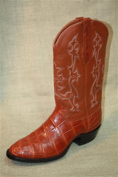Handcrafted Cowboy Boots - alligator cowboy boots from dann custom handcrafted just