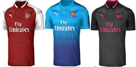 New Jersey Arsenal Away 20172018 arsenal jersey 2017 2018 home away and third kits