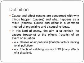 Image result for what is the definition of cause and effect essay