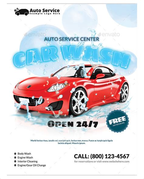 car wash template 10 car wash flyers psd vector eps