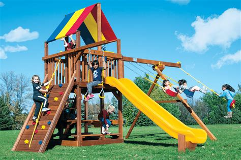 rainbow swing sets rainbow clubhouses playsets rainbow play systems