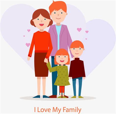 imagenes de i love your family أنا أحب عائلتي ناقلات المواد الدفء الاسرة السعيدة png