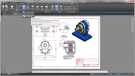 update layout autocad autocad mechanical toolset mechanical design software