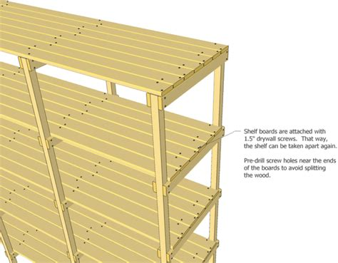 Storage Shelf Plans Wood Storage Shelves