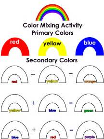 Color mixed mixed activities preschool lesson plans rainbow colors