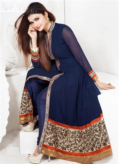 in suite designs prachi desai in anarkalis zeenat style