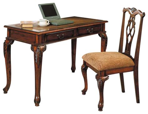 home office storage computer writing desk cushioned seat