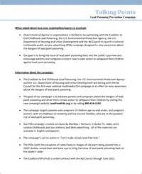 Talking Points Template Word by Lead Free Notice