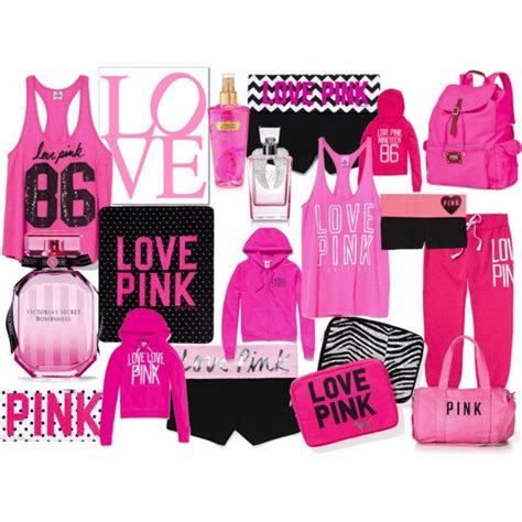 10 Cutest Victorias Secret Pink Items by Pink Polyvore Clothes