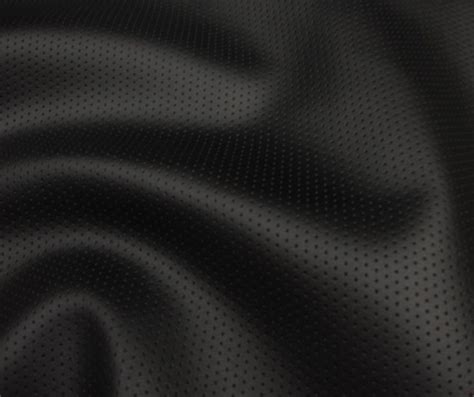 vinyl faux leather perforated black commercial grade