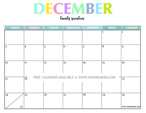 printable december 2017 calendar free your free 2017 printable calendar fun and colorful
