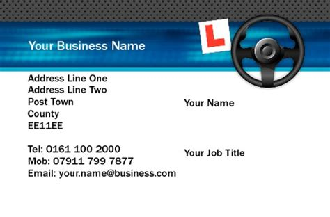 School Driver Business Card Template by Print Templates Printing Uk