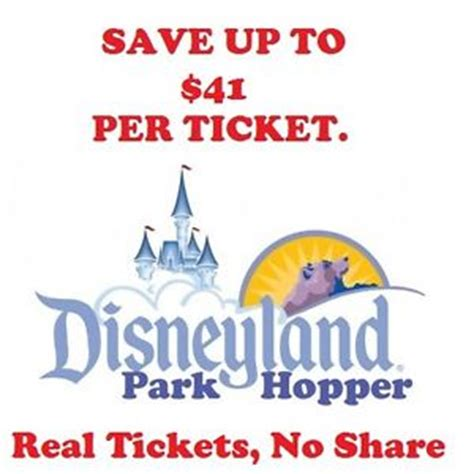 discount coupon disneyland tickets 1 2 3 4 5 day park