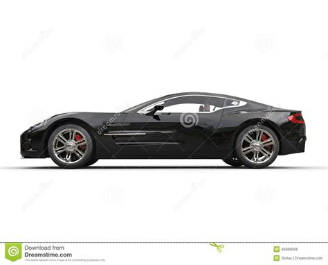 sports cars side view black luxury sports car on white background side view