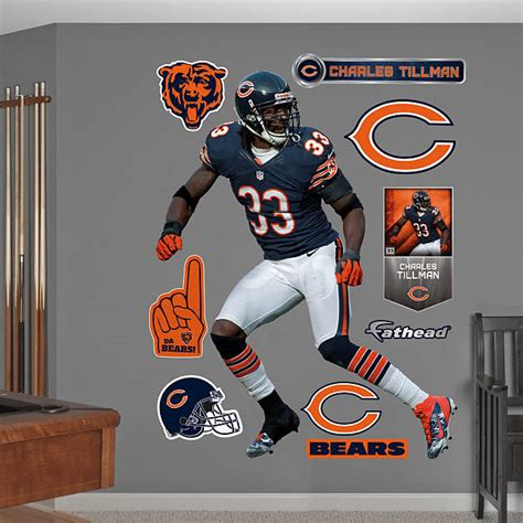 chicago bears wall stickers 1 877 328 8877