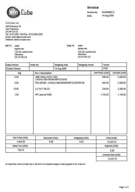 delivery invoice template free invoice template