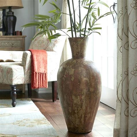 view in gallery transparent floor vase showcases real