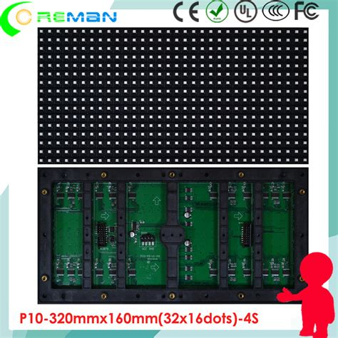 P10 Led Modul Semioutdoor Hijau rgb led module p10 outdoor exterior ip65 color p10 smd led module smd3535 module led