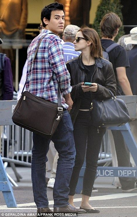emma watson and boyfriend emma watson dresses down for day out with boyfriend will