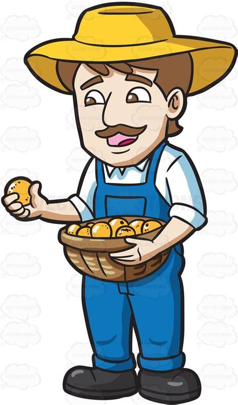 farmer clipart a farmer harvesting lemons clipart by vector