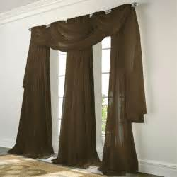 Sheer Elegance Curtains Elegance Voile Chocolate Brown Sheer Curtain Bedbathhome