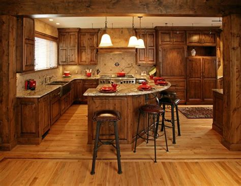 knotty alder cabinets knotty alder stained cabinets with a large center island