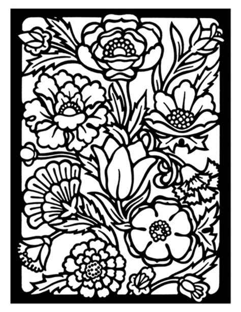 coloring pages detailed flowers free coloring pages of flowers bestofcoloring