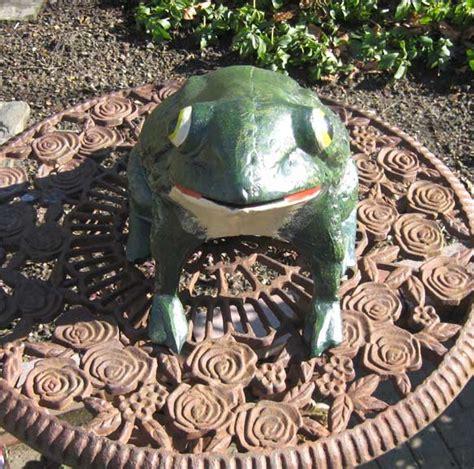 Cast Iron Garden Decor with Frog Garden Decor Door Stop Garden Cast Iron Ebay