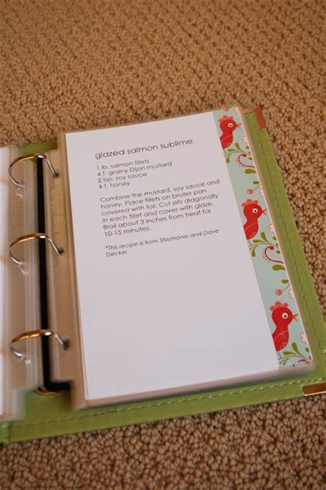 recipe binder craft ideas pinterest
