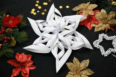 How To Make 3d Paper Snowflakes - how to make a 3d paper snowflake 13 steps with pictures