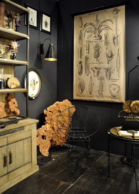 dark decor vintage home furniture ideas