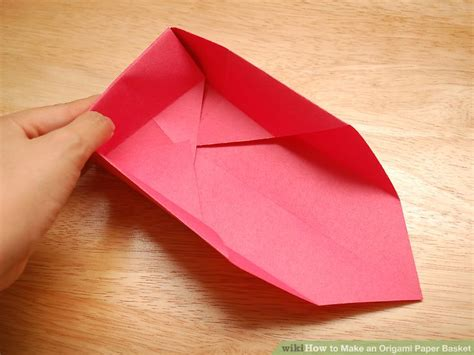 Folded Paper Basket - how to make an origami paper basket 8 steps with pictures