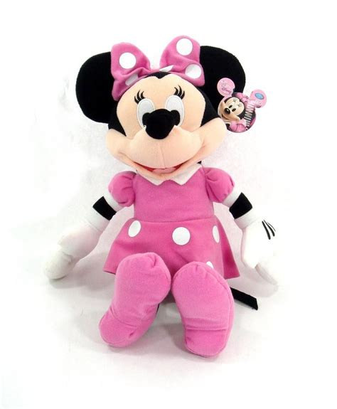 Botol Minum Disney Minie Mouse Pink disney minnie mouse 18 quot inch plush doll licensed product new ebay
