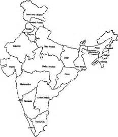 India Maps Outlines Blank by Blank Map Of India With 29 States