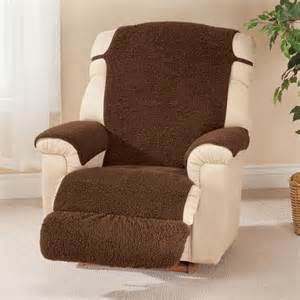 Oversized Recliner Cover Sherpa Recliner Cover Set Fleece Recliner Cover Easy Comforts