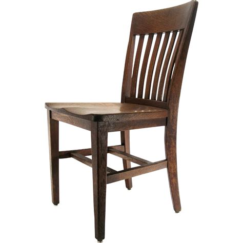 Antique Mission Arts Crafts B L Marble Chair Co Solid Kitchen Desk Chair